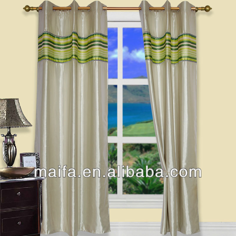2012 Latest Bedroom Fashion Finished Curtain Design.14 Color Available(Curtain ricamato)