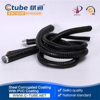 Zinc-plated sophisticated galvanized flexible metal cable duct without jacket for wire protection