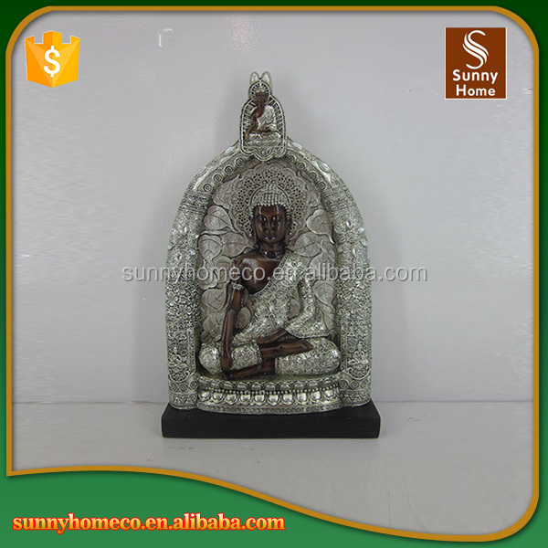 Home decorative silver thai resin buddha