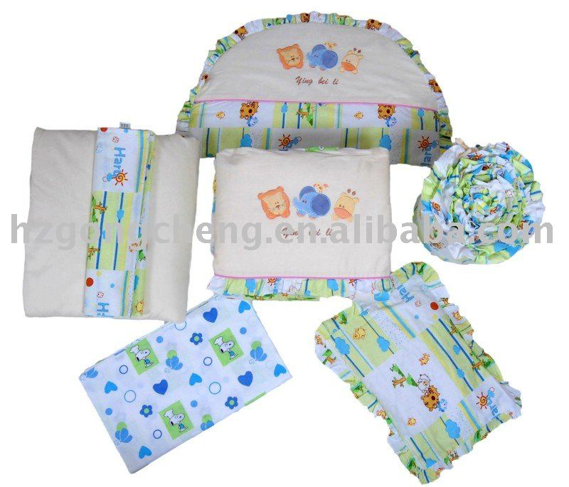 7pcs bedding set for 0-3 years baby