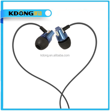 2016 newest cool silicone made earbud plug blue isolation/soundproof metal bass earphones for mobile phone