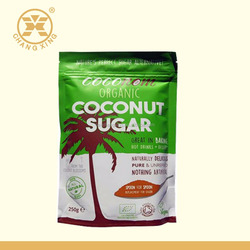 stand up zipper pouch coconut sugar food packaging bag /plastic container for coconut candy packaging