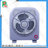 2017 Stock Sell Portable Rechargeable Led Light Table Fan Square Box Fan