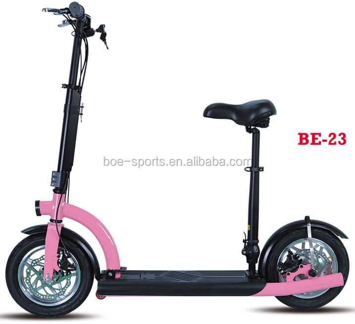 12 inch wheel brushless gear motor 36v 350w lithium battery foldable alibaba 25km/h hybrid electric scooter