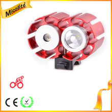600 Lumen Water Resistant LED Bike Headlight with Red Laser LED Front Light