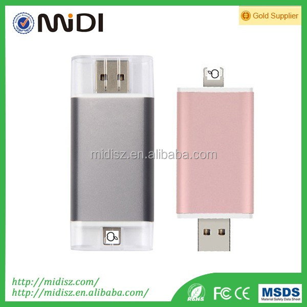 OEM and ODM services promotional gift OTG usb flash drive 1gb-128gb for iphone and PC