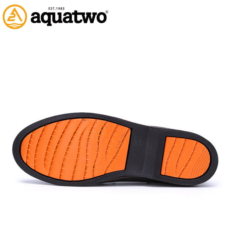 China manufacturer Aquatwo lace-up man's boat shoes wholesale online
