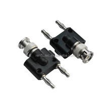 BNC Male To Two Dual 4mm Banana Male Plug Connector Adapter