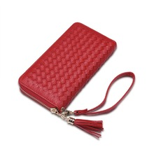 Wholesale newest beautiful leather long lady wallets / woman purses