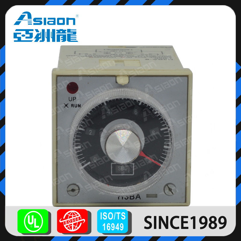Asiaon relay manufacture AS3BA 12 volt relay timer
