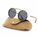 2019 Wood Steel Women Round Cat 3 UV400 Sunglasses