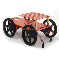 4WD Mobile platform car toy robot with 9g servo