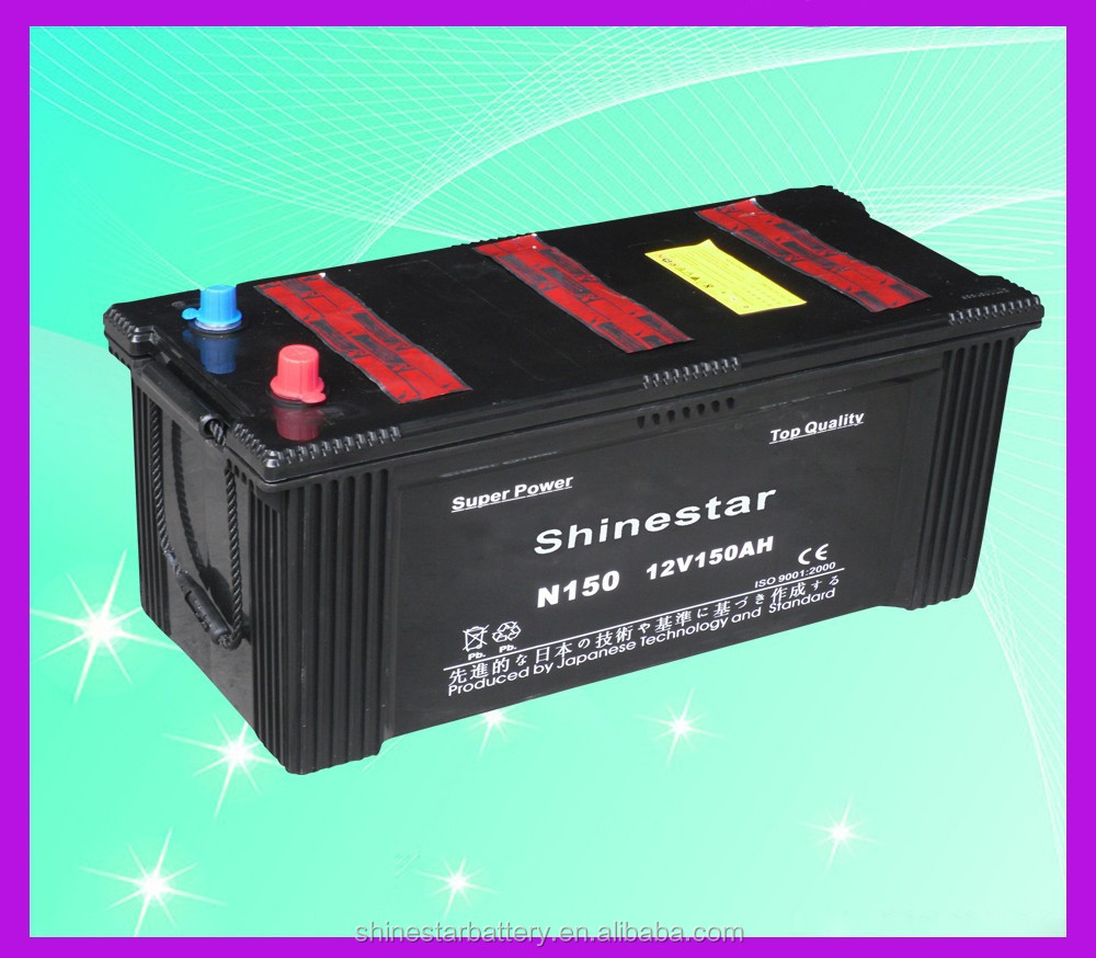 145G51(N150)12V 150Ah battery with high quality car battery motorcycle batteries sale truck bus lorry
