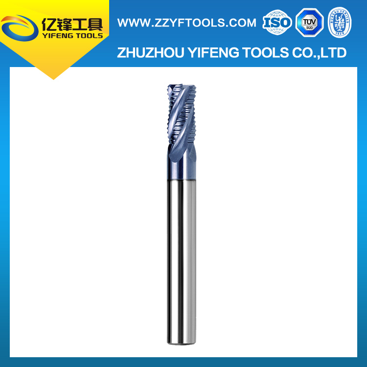 Solid carbide rear wave milling cutter