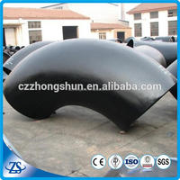 Hot selling a106 a53 large size steel elbow mild steel elbow ms hollow section for window