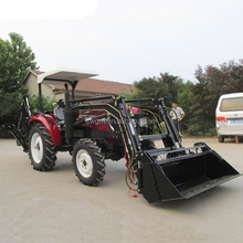 35HP 4x4 4WD Mini Garden Tractor with Front end loader and Backhoe