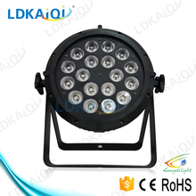 DMX control 18*12W UV 6in1 led slim par/uv led stage light/led disco equipment