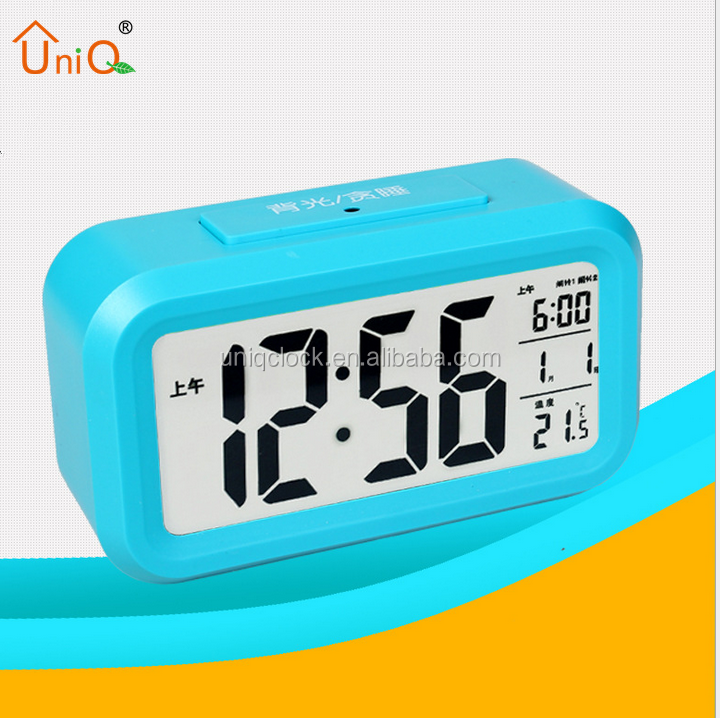 Low Price OEM Wholesale Plastic Time Desktop Desk LCD Digital Alarm Clock