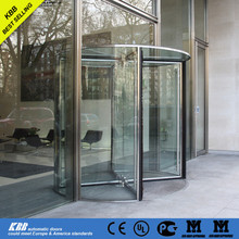 KBB self-designed 3/4 wing all glass revolving door