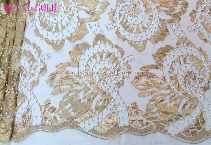 Exquisite french lace fabric embroidery designs flower