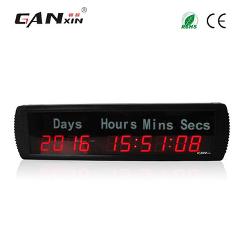 [Ganxin] 2019 High Quality 1.8'' 10 Digits  Timer New Design Led Days Timing Clock Digital Electrical Event Timer Clock