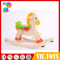 wholesale wooden horse toy, riding horse toy, wooden rocking horse for kids