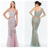 2015 sexy beaded evening one shoulder prom dress pattern