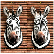 Resin horse life size zebra head statue for home and hotel wall decoration