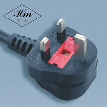 BS1363 Standard UK Fused 3 Prong Power Cord IEC C13