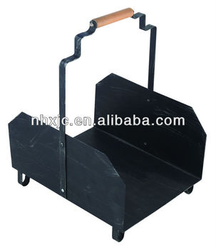 High quality log rack fireplace holder with black powder coated