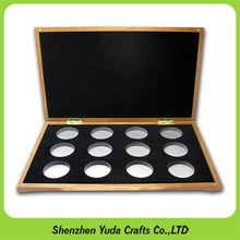 Factory bespoke wooden coin storage box display case wholesale