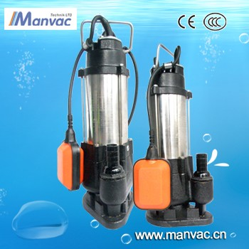 V1500F Stainless Steel 18m3/h maxhead 26m electric submersible vacuum sewage truck pump