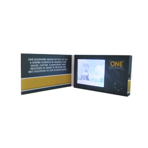 Usb business greeting quality video card , digital video player brochure