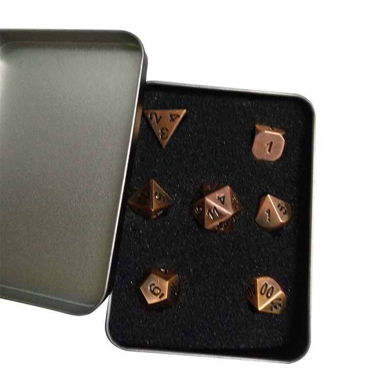 NEW Metal Dice set d4 d6 d8 <strong>d10</strong> d% d12 d20 for Board Game Rpg dungeons & dragon dice