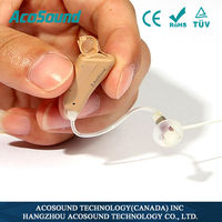 OEM AcoSound AcoMate 410 RIC receiver in canal first-time hearing impaired user