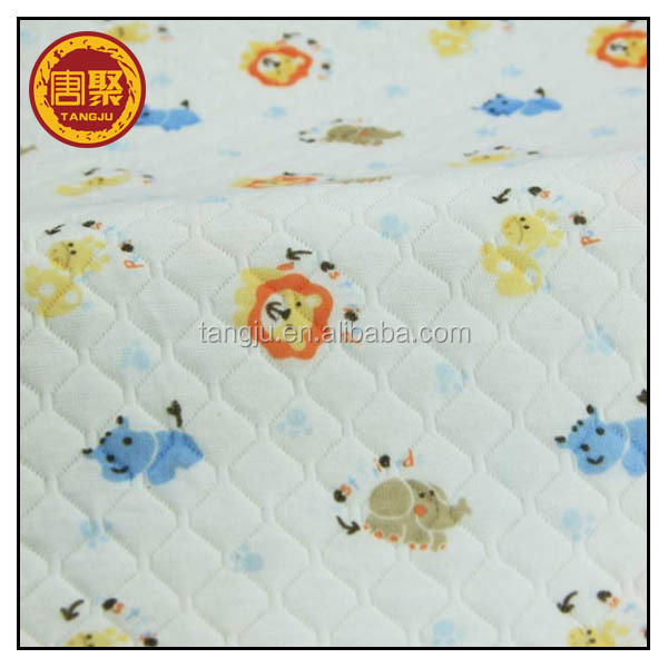 High quality competitive price laminated cotton fabric by the yard for garment