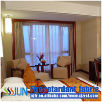 Fire resistant flame retardant latest window screening curtain
