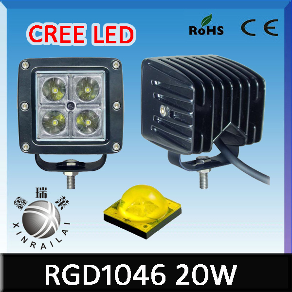 cree 20w or 16w led work light waterproof ip68 RGD1046 sport motorcycle light