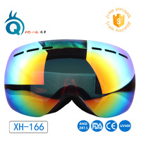 2016 new model skiing goggle custom wide angle revo ski goggle factory wholesale high quality ski goggle