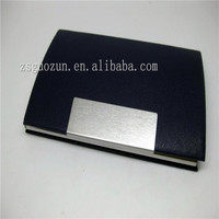 High class ,competetive and luxury bulk personalized real leather and metal business card holder/ card cover/ cardcase