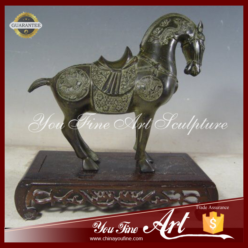 Antique metal animal horse bronze sculpture