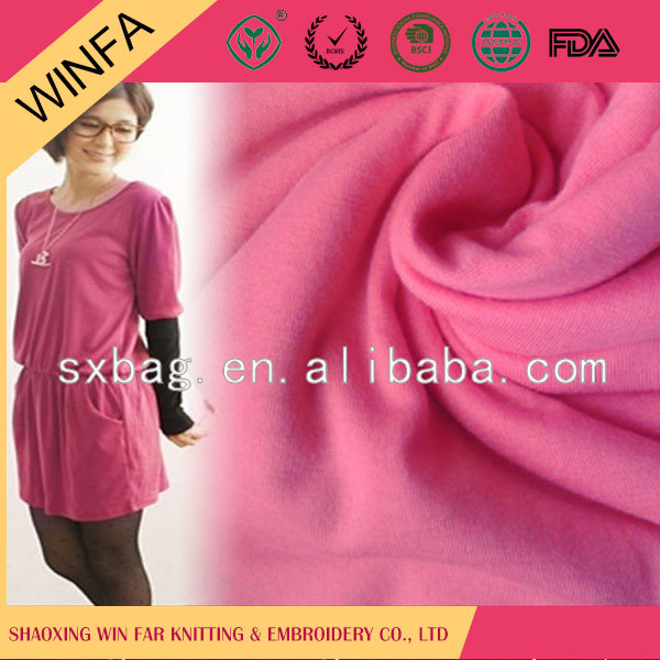 Most popular Soft Knitted polyester rayon spandex single jersey fabric