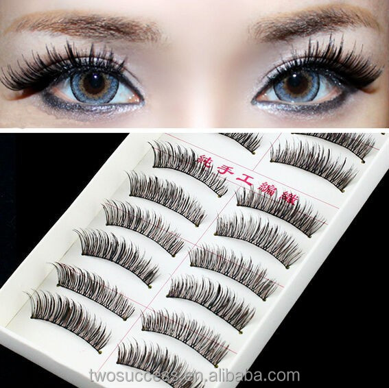 factory supply 10 Pairs Reusable magic Eye lash Long False Eyelashes custom package box lashes