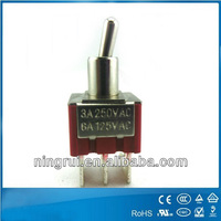 DPST on-off-on /on-off illuminated miniature toggle switch with UL approval