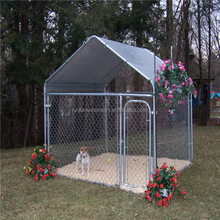 High quality used galvanized / pvc coated wire mesh fencing dog kennel
