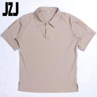 Khaki 100% Ployester High performance Men's T-Shirt