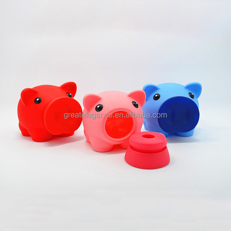 Promotional Customized Pig Shaped Plastic Piggy Coin Bank