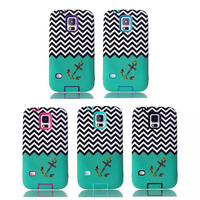 Colorful wave skin pattern defender armor for samsung s5 case cover