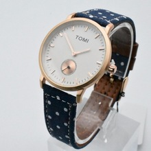 New hot selling cheaper TOMI brands mens /womens leather watch wholesale couple watches