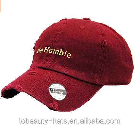 2D Embroidery Specialized Custom Vintage Baseball Cap and Hat with Embroidery Logo